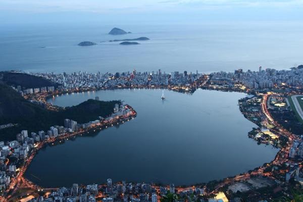 Lagoa Rodrigo de Freitas no Rio de Janeiro