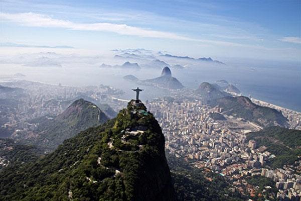 Morro do Corcovado no Rio de Janeiro