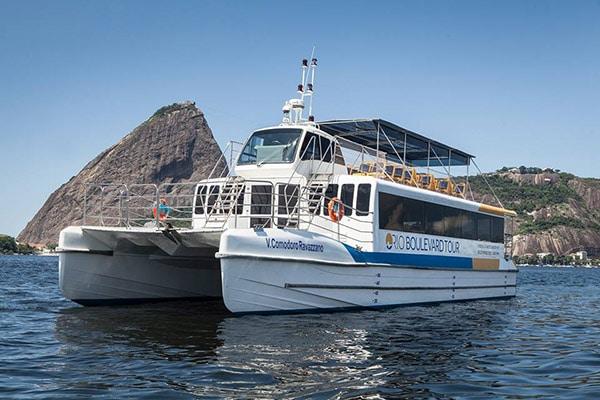 Passeio de Barco na báia de Guanabara