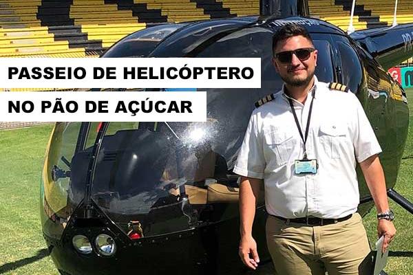 Passeio no pão de açúcar de Helicóptero