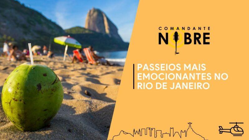 Praia do Rio de Janeiro com um coco na areaia