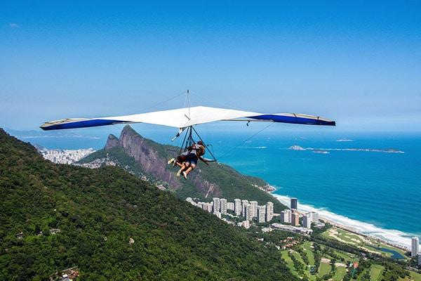 Voo de asa delta no Rio de Janeiro