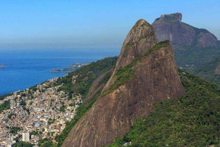 Corcovado - Vista do passeio de helicóptero pelo Rio de Janeiro