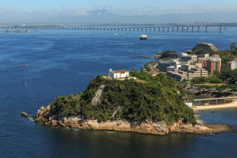 Imagem aérea Igreja Boa Viagem Rio de Janeiro.