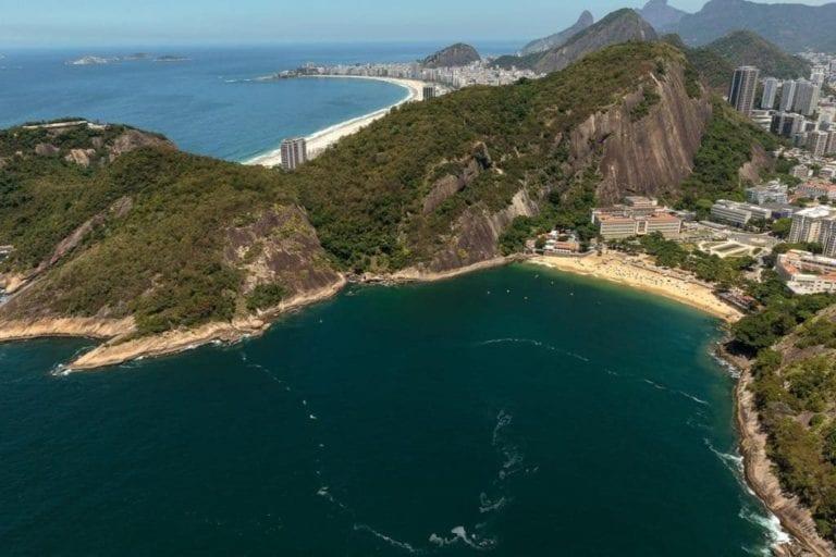 Praia Vermelha no Rio de Janeiro.