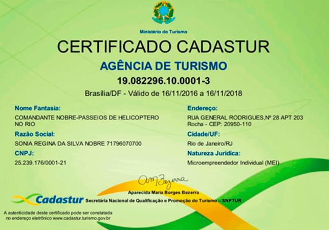 certificado-cadastur-agencia-de-turismo-comandante-nobre