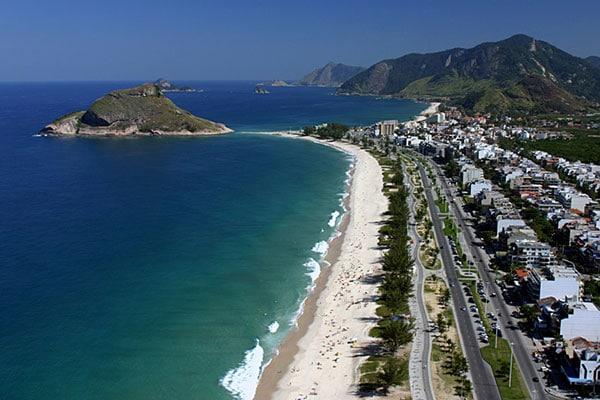 Praia do recreio no Rio de Janeiro