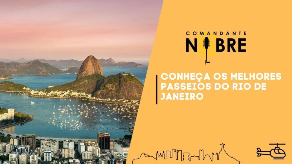 Foto panorâmica do Rio de Janeiro.