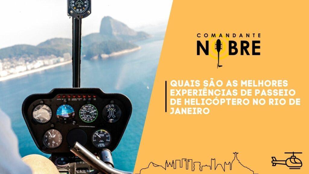Foto do painel do helicóptero no Rio de Janeiro.