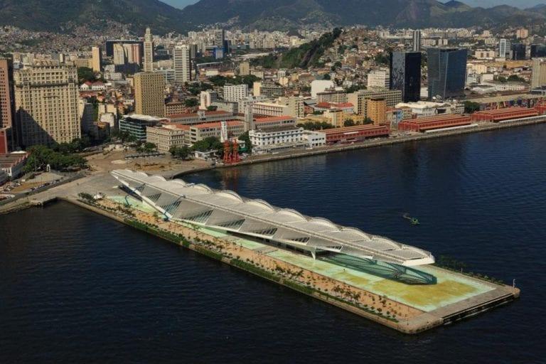 Imagem do Museu do Amanha vista do alto.