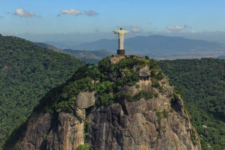 Imagem do Corcovado e Cristo Redentor.
