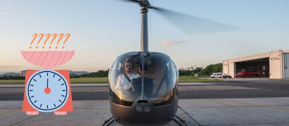 Qual o peso máximo para voar de helicóptero? - Comandante Nobre
